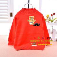 热销韩版宝宝套头毛衣 儿童纯棉上衣打底衫 儿童针织衫 宇悦1218