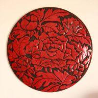 现代中式创意树脂墙壁挂饰结婚家居饰品花影挂件(圆)