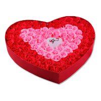 批发促销浪漫礼品带灯心形玫瑰香皂花 100朵装 保湿 清洁 除菌