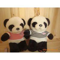 批发供应毛绒公仔外贸穿衣熊猫高20cm毛绒玩具熊猫