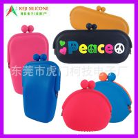 [PEACE]和平标志硅胶眼镜包 硅胶零钱包 低价批发硅胶包包