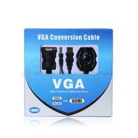 供应vga转hdmi带音频转换器 转换线 转接线 外接电源
