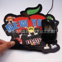 不规则天然橡胶鼠标垫 无气味鼠标垫 彩色印刷过磨砂胶鼠标垫