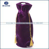 深圳实力派厂家专业定做立体绒布酒袋 高档绒布酒袋