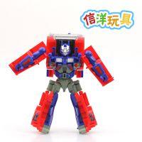 儿童玩具变形金刚擎天柱 变形机器人玩具汽车人卡车模型2911A