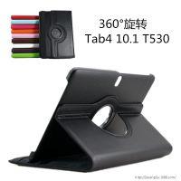 供应深圳专业皮套厂家 三星T530保护套Galaxy tab 4 10.1寸荔枝纹旋转皮套