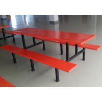 珠海哪有卖玻璃钢餐桌 食堂8人位置餐桌椅批发 工厂员工用餐台专卖