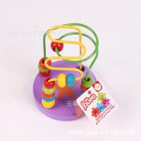 外贸婴幼儿木制玩具迷你小绕珠 可爱的启蒙绕珠 早教益智玩具