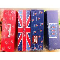 韩国精品文具 山本水册0038-3印象碎花英伦双层纸盒 多功能盒子