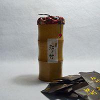 巨匠厂家定制高档碳化天然原竹中国风创意竹子茶叶筒礼品包装布袋式2015新款