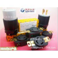 专业供应20美国标准工业插头 旋锁式4PIN插头