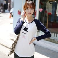 2014秋冬新款 韩版插肩袖 甜美修身纯棉长袖T恤女打底衫