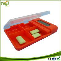 厂家供应四方格药盒 闹铃提示 药盒计时器 提醒吃药