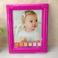 创意儿童宝宝婚纱写真玫瑰花边面相框横竖12寸相框摆台照片墙7379