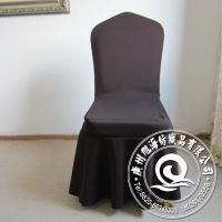工厂直销 唯美涤纶下摆酒店餐厅弹力椅子套 外贸原单