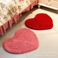 唯美可爱风 心形地垫 桃心地垫 爱心地毯 雪尼尔婚庆垫
