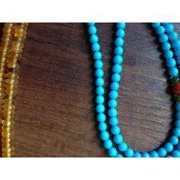 品质正品天然美国绿松石 5mm睡美人/瓷松/蓝松/散珠