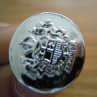 厂家现货供应塑料电镀纽扣、蘑菇银白色手缝纽