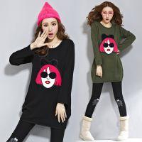 秋冬新款女式韩版棉不倒绒长袖T恤美女头 加厚加绒打底衫