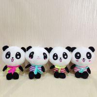 新款海军熊猫 毛绒玩具可爱围巾国宝熊猫 游乐场娃娃机毛绒公仔