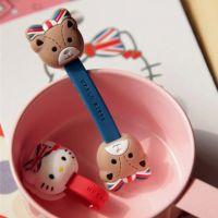 英伦风HELLO KITTY和小熊纽扣绕线器手机配件生日小礼物回礼品