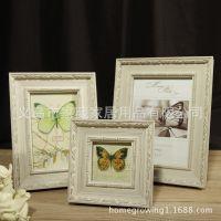 巴西实木田园 个性白色相框高端木质组合 挂墙照片框相架 025