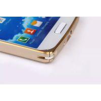 批发 三星S4双色金边圆弧金属边框 i9500手机壳 海马扣金属边框