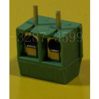 绿色螺钉式3.81 3.81接线端子台 5.08 7.5mm 2P绿色端子台