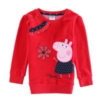 外贸童装秋装新款佩佩猪儿童长袖体恤女童打底衫T恤厂家直销批发