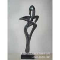 直销软装树脂/雕塑抽象/客厅酒店艺术工艺摆件,树脂工艺品摆件