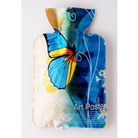 丝光热水袋/暖水袋 PVC灌水暖水袋 绒布暖宝宝 中号