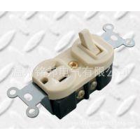 供应美式GFCI漏电保护插座带一位开关U18墙壁插座批发