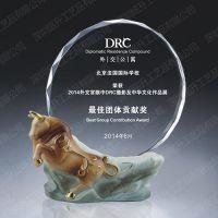 国际学校赛事奖牌 摄影展览庆典奖牌 阿法瓷水晶奖牌定做批发