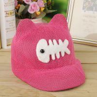 外贸出口宝宝遮阳儿童韩版帽子热销鱼骨头婴儿户外帽子厂家批发