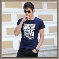 供应新款夏装男式T恤短袖圆领半袖韩版时尚男装t恤打底衫