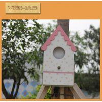 广东生产厂家 木质彩色印刷精致鸟窝 原木鸟窝装饰挂件 木 鸟窝