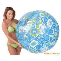 专业生产6P环保pvc充气沙滩球 直径90cm透明水上运动PVC充气球