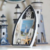 地中海风格装饰木质船型相框  照片框 海洋系列摆件工艺品 批发