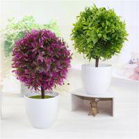 新款绿色草球高仿真盆景  植物成品装饰盆栽饰品家居摆件道具批发