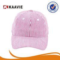 广东广州外贸出口美国新款2014流行粉红条纹泡泡纱防晒鸭舌帽子