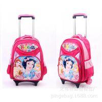 【生产】迪士尼卡通小学生拉杆书包 儿童双肩拉杆背包
