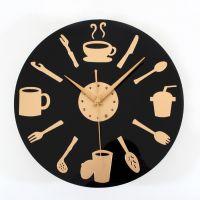 批发价 厨房餐厅风格 时尚创意餐具挂钟 刀叉勺墙面壁时钟 酒吧