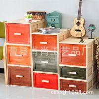 肖肖家居优惠热销实木收纳箱大号整理箱储物箱 桐木整理收纳箱