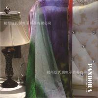 2014秋冬新款真丝围巾中长款桑蚕丝丝绸围巾绿紫色