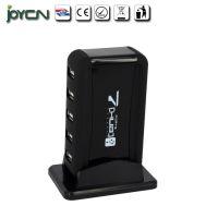深圳宝安USBHUB数码配件立式7口集线器USB2.0带电源分线器银色