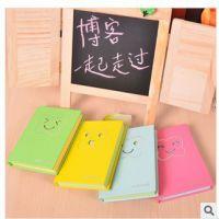 可爱表情100k硬抄本 笔记本 韩国文具蝴蝶记事本