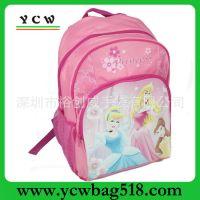 供应龙岗厂家生产订做 迪士尼学生双肩背包 学生卡通背包 外贸背包