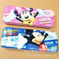 名著8302铅笔盒 韩国时尚文具学生比盒迪士尼正版铁皮单开米奇