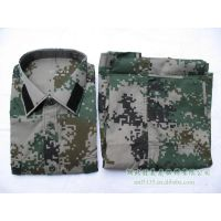 林地短套装 通用数码迷彩短袖 军训服
