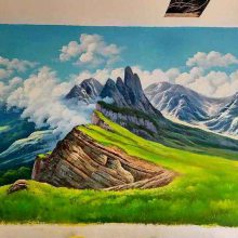 供应江西樟树 高安 新余 南昌 鹰潭 景德镇酒店宾馆壁画彩绘手绘